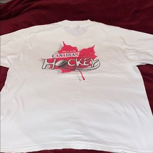 Vintage Molson Canadian hockey tee shirt